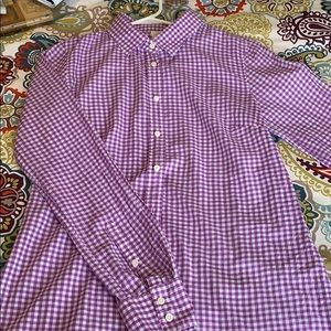 J CREW purple check long sleeve shirt. Size XS